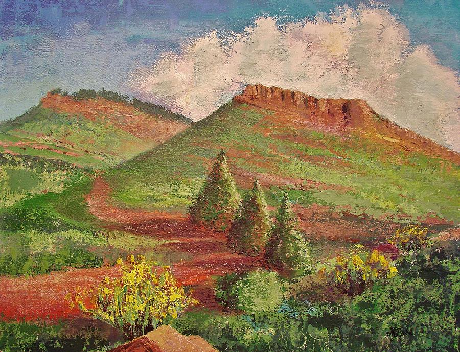 Landscape Painting - Hall Ranch Hogback by Margaret Bobb