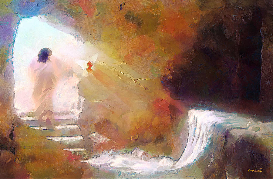 Hallelujah, He Is Risen Painting by Wayne Pascall