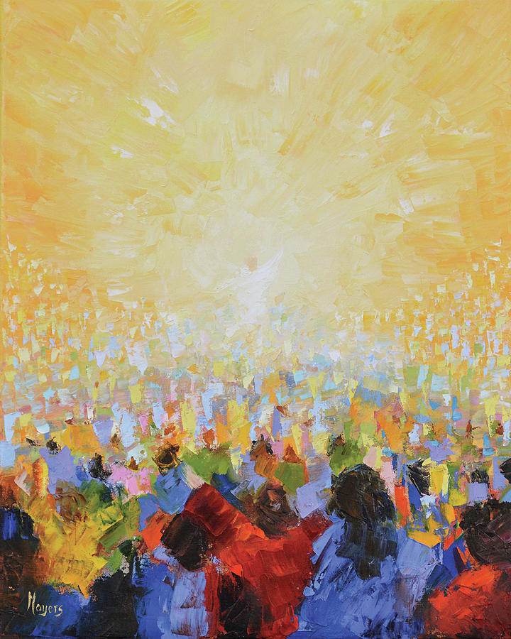 Christ Painting - Hallelujah by Mike Moyers