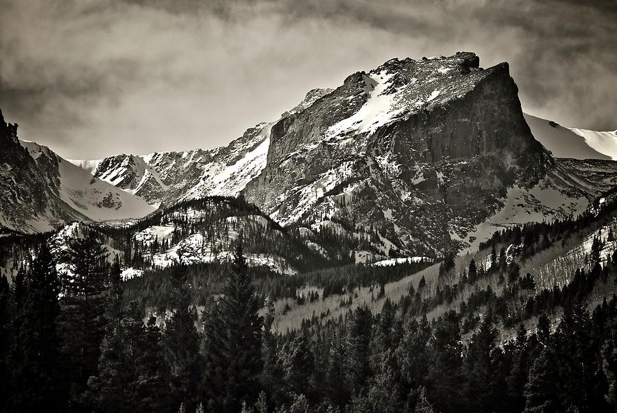 Nature Photograph - Hallet Peak, Rocky Mountain National Park by Zayne Diamond Photographic