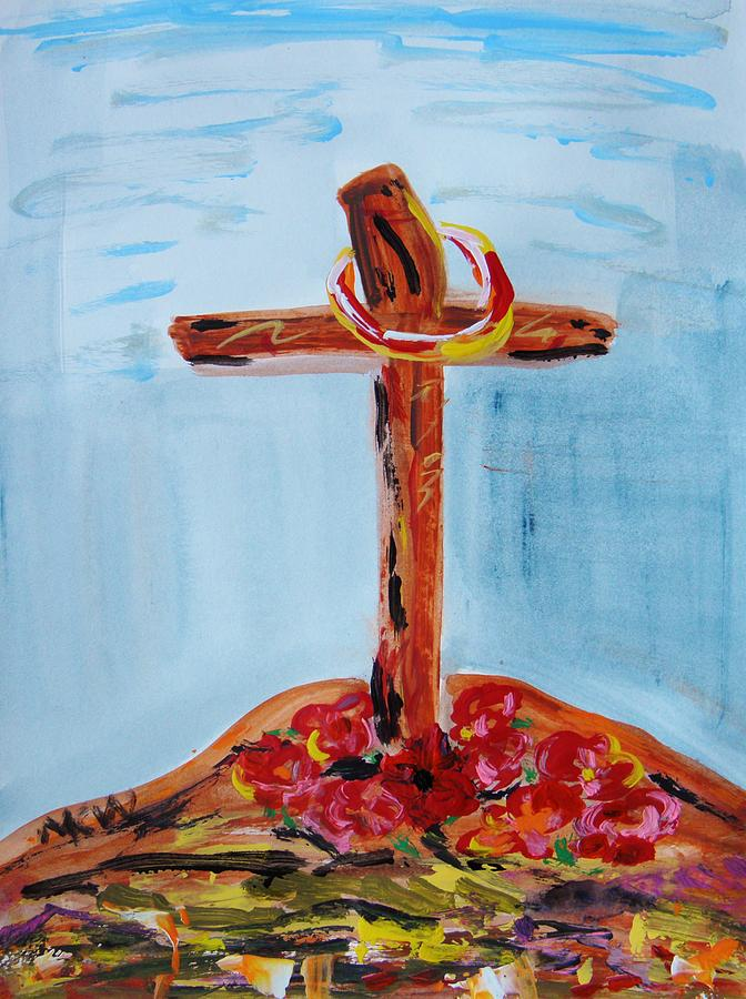 Jesus Painting - Hallowed Garden by Mary Carol Williams