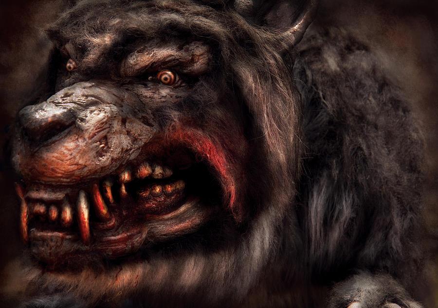Halloween Photograph - Halloween -  Mad Dog by Mike Savad