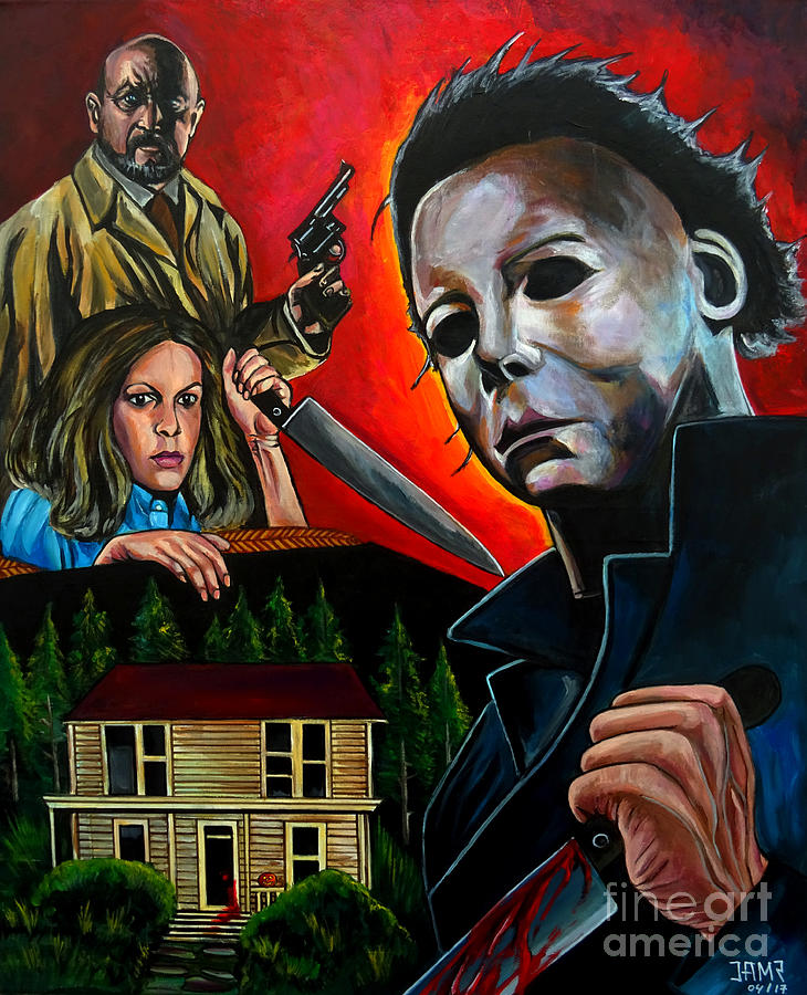 Halloween Painting - Halloween 1978 by Jose Mendez