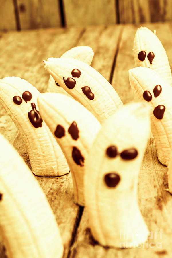 Fruit Photograph - Halloween Banana Ghosts by Jorgo Photography - Wall Art Gallery
