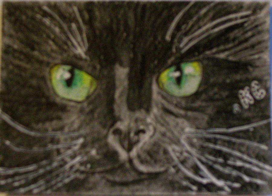 Halloween Painting - Halloween Black Cat I by Kathy Marrs Chandler