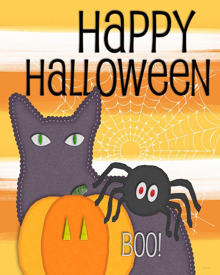 Happy Halloween Digital Art - Halloween Friends- Art By Linda Woods by Linda Woods