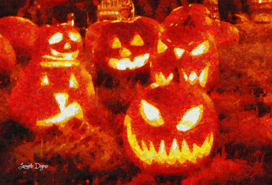 Attending Digital Art - Halloween Friends - Da by Leonardo Digenio