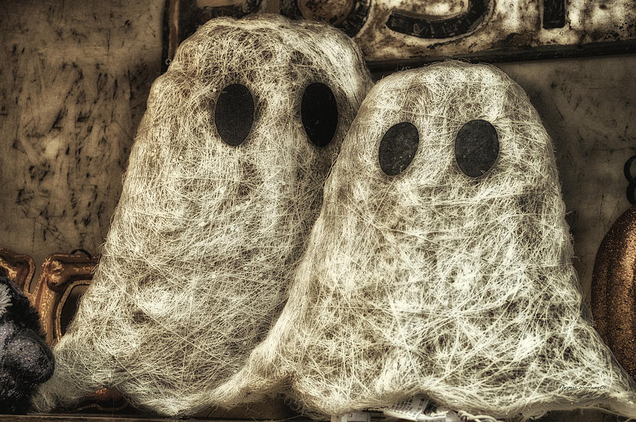 Ghost Photograph - Halloween Ghosts Boo by Thomas Woolworth