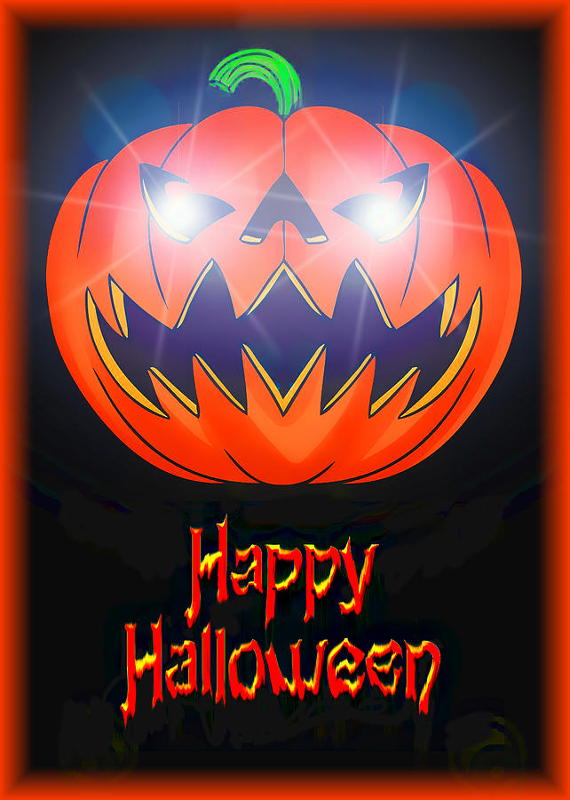 Halloween Greeting Card Digital Art