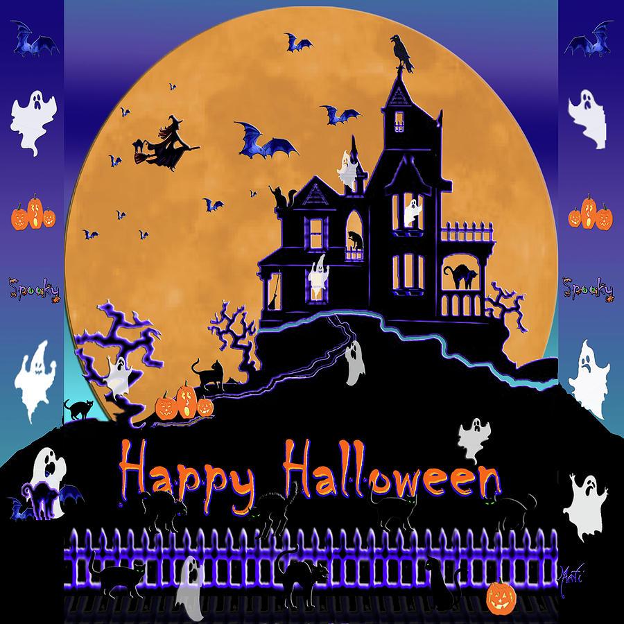 Halloween Haunted House Digital Art By Michele Avanti