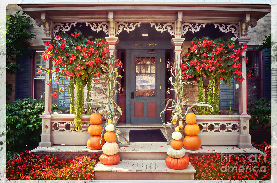 Halloween Photograph - Halloween In A Small Town by Mary Machare