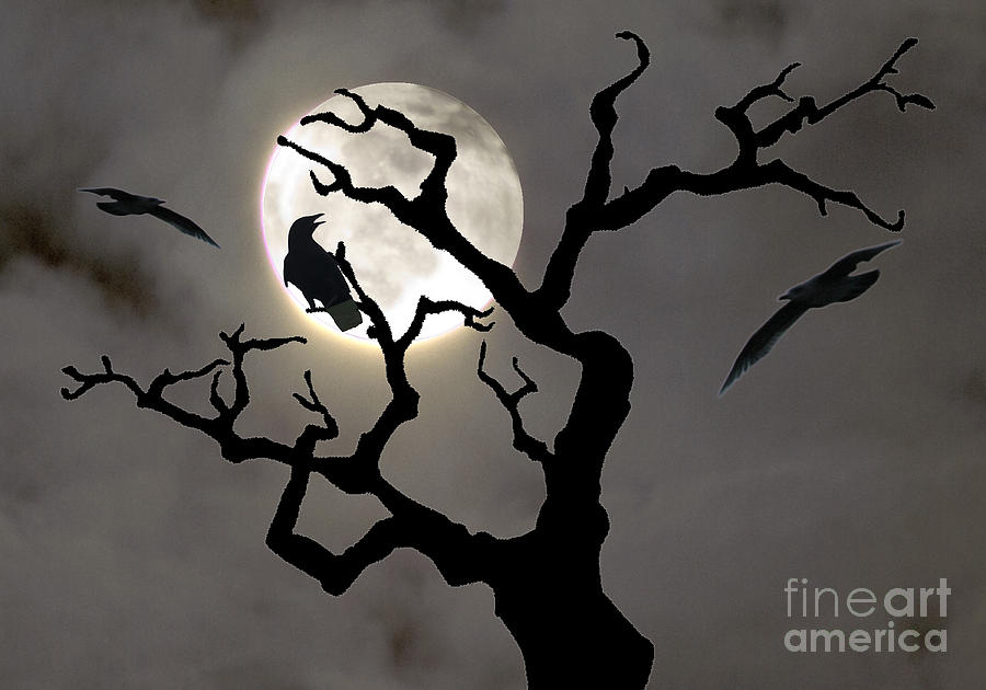 Moon Photograph - Halloween by Jim Wright