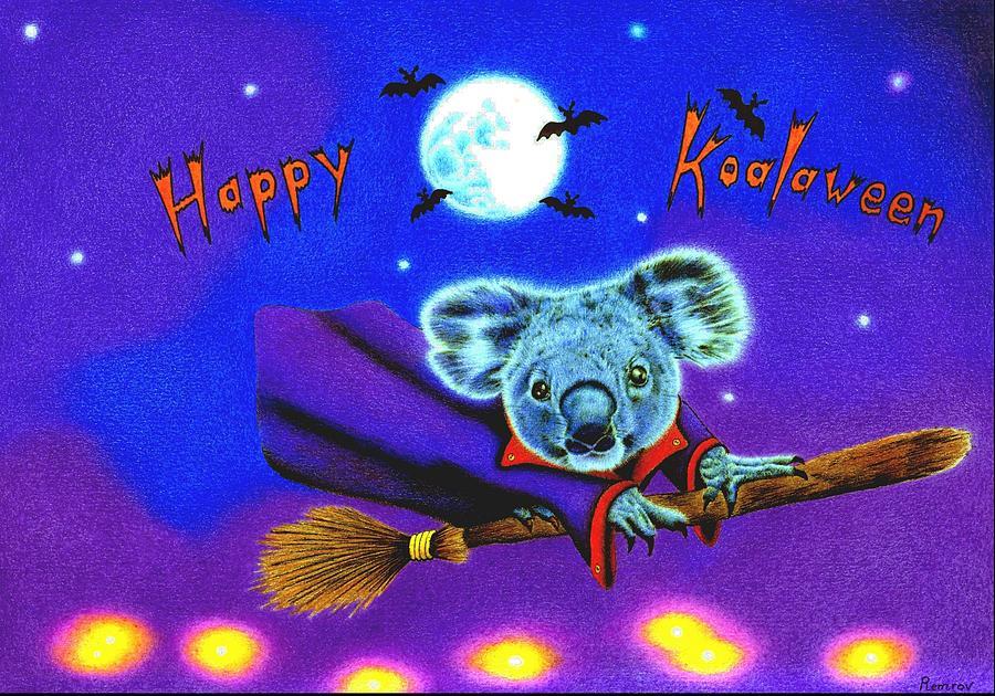 Halloween Koala, Happy Koalaween Drawing