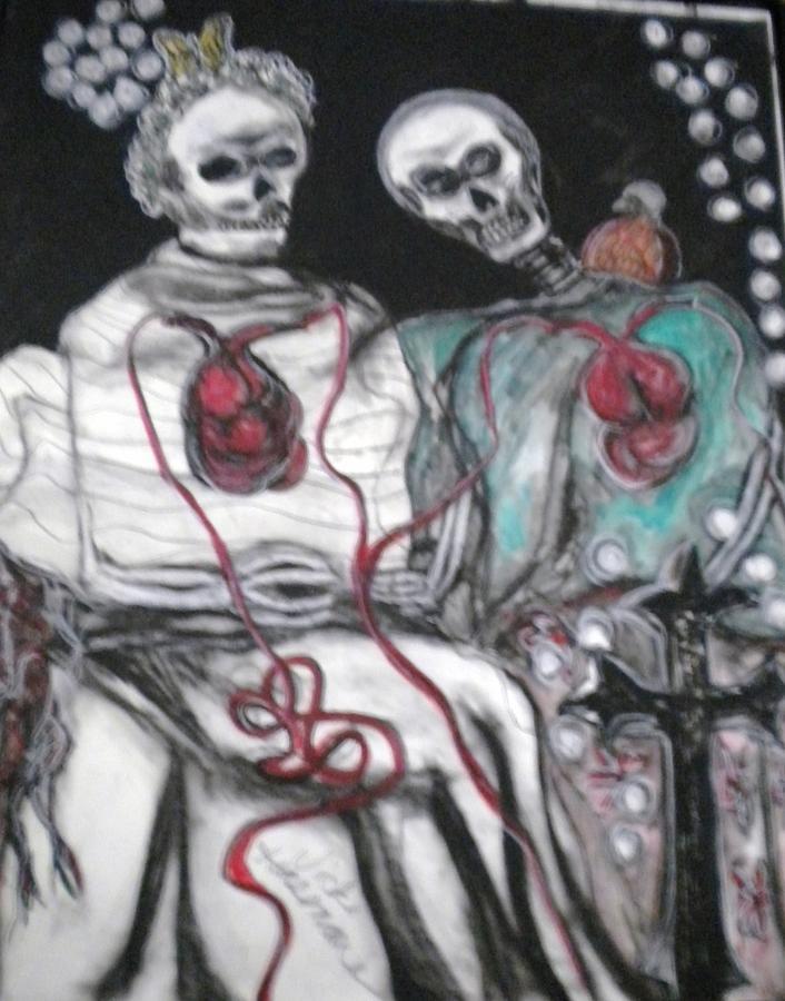 Love Mixed Media - Halloween Love by Victoria Hasenauer