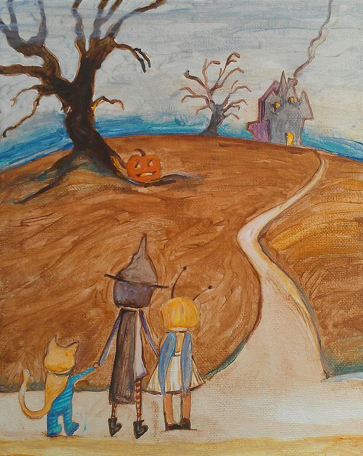 Halloween Night Painting - Halloween Night by Dawn Vagts