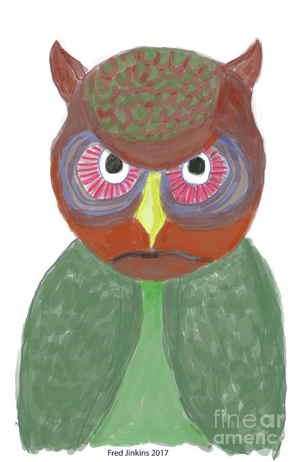 Owl Digital Art - Halloween Owl by Fred Jinkins