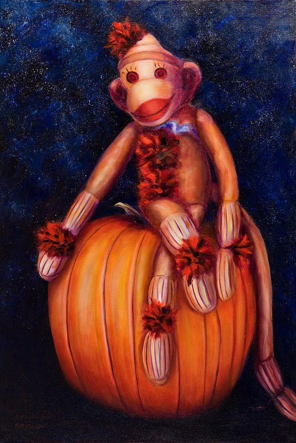 Pumpkin Painting - Halloween by Shannon Grissom