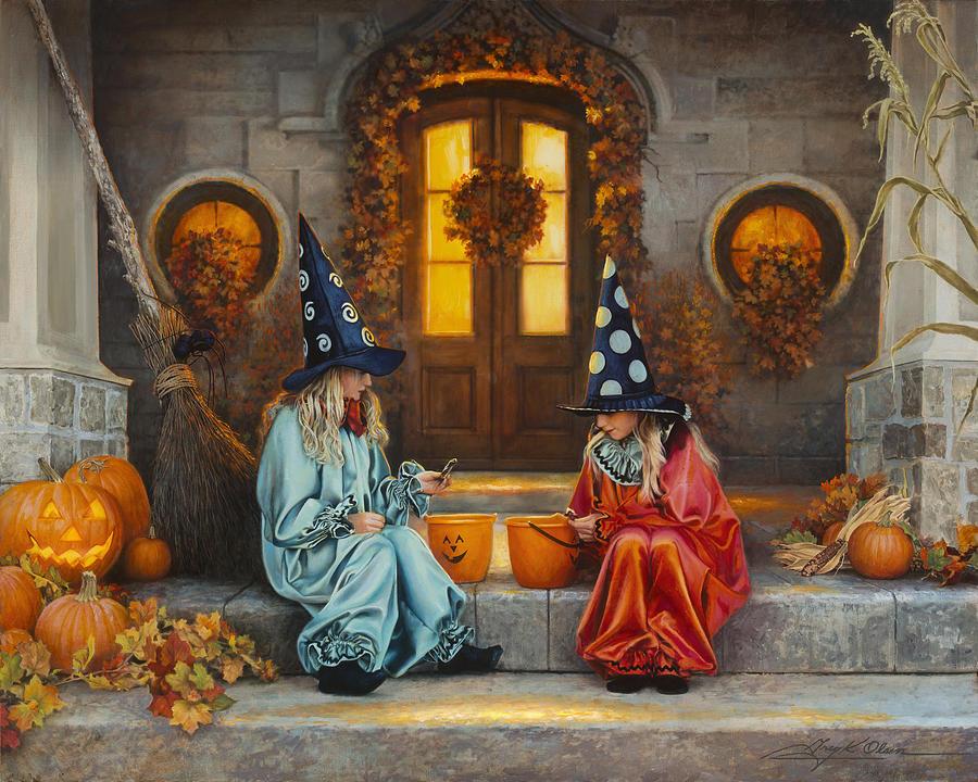 Halloween Painting - Halloween Sweetness by Greg Olsen