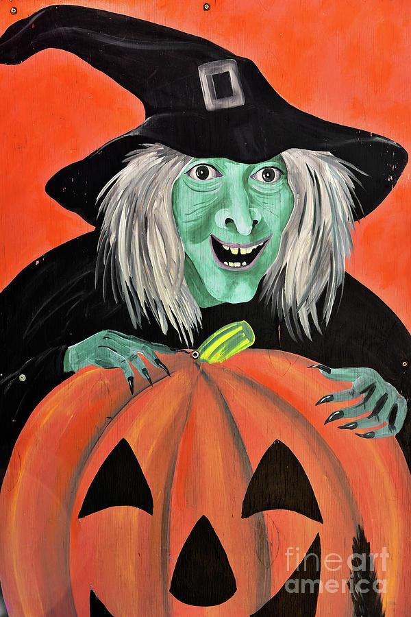 Halloween Photograph - Halloween Witch And Pumpkin Art by Regina Geoghan