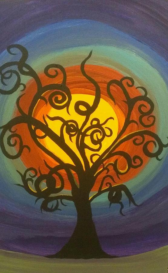 Halloween Painting - Hallows Eve by LKB Art and Photography