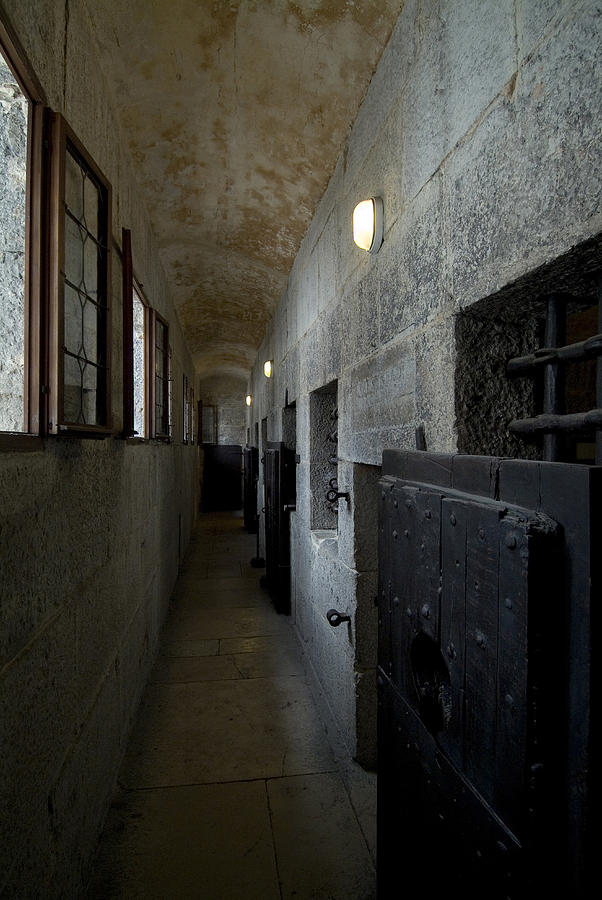 Prison Photograph - Hallway With Doors To Cells by Todd Gipstein