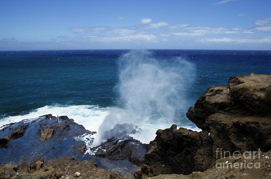 Hawaii Photograph - Halona Blowhole by Charmian Vistaunet