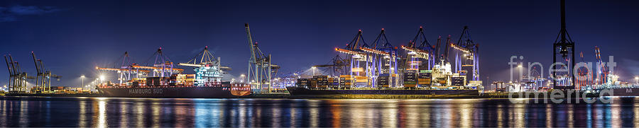 Hamburg Harbor Panorama Photograph