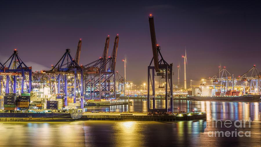 Hamburg Harbor View II Photograph