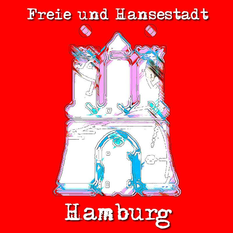 Hamburg Wappen Digital Art by Nils Denker