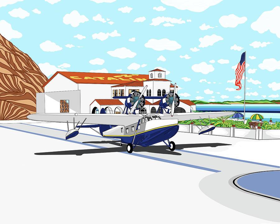 Seaplane Digital Art - Hamilton Cove by Carlos Martinez