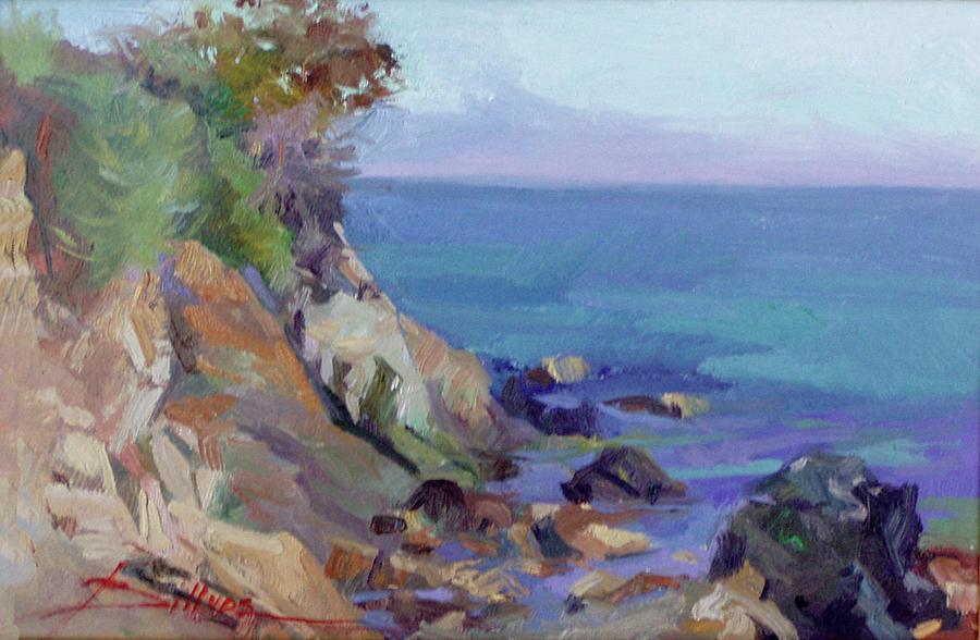 Hamilton Cove Catalina Island Painting by Betty Jean Billups