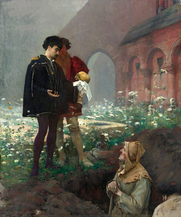 Hamlet And The Gravediggers Painting by Pascal Adolphe Jean Dagnan-Bouveret
