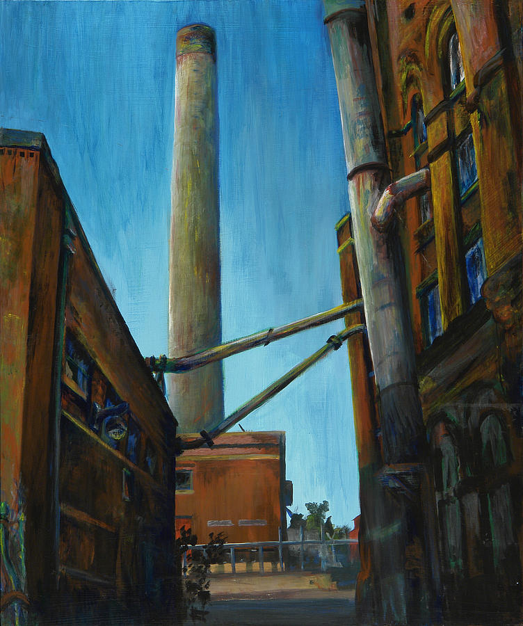 Landscape Painting - Hamm Brewery by Grace Hasbargen