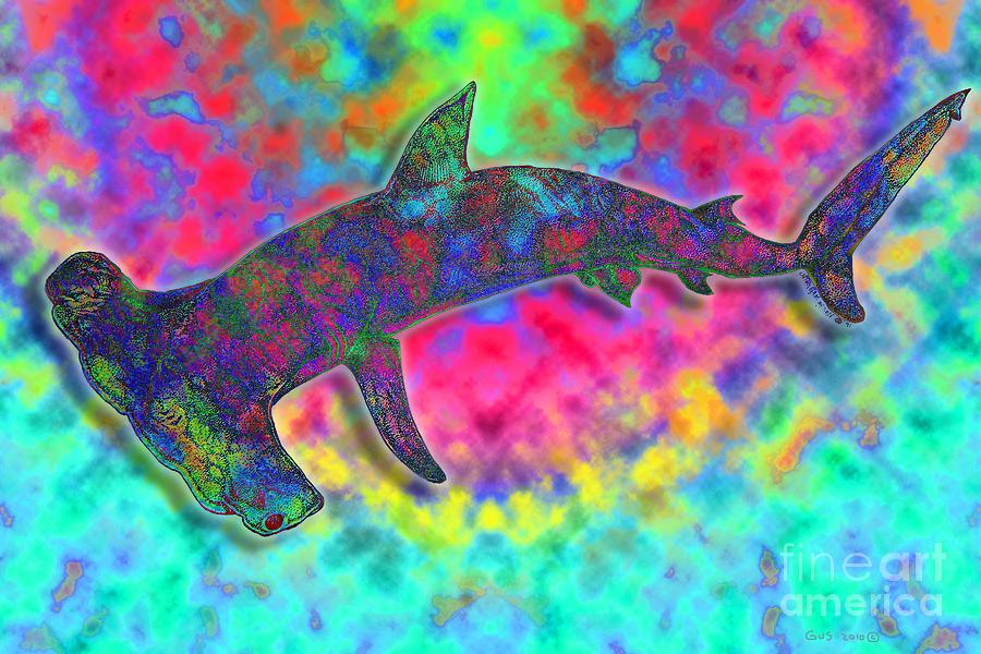 Hammer Head Shark Drawing - Hammer Head 2 by Nick Gustafson