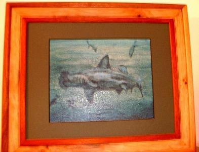 Shark Painting - Hammerhead Shark by Ladonna Idell