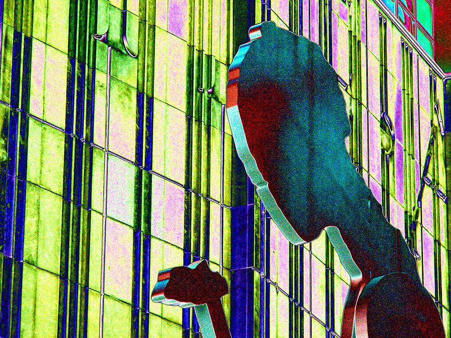 Seattle Digital Art - Hammering Man 3 by Tim Allen
