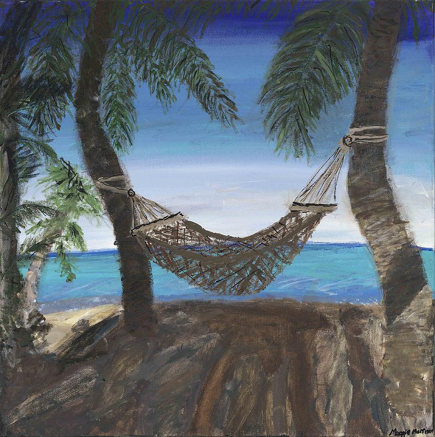 Hammock Painting - Hammock Haven by Maggie  Morrison