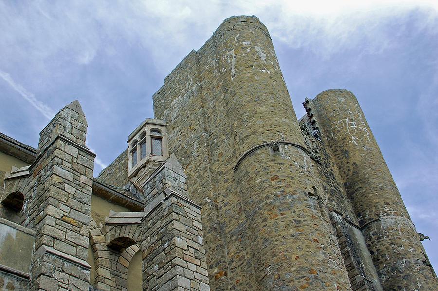 Hammond Castle Photograph - Hammond Castle Detail - Gloucester Ma by Suzanne Gaff
