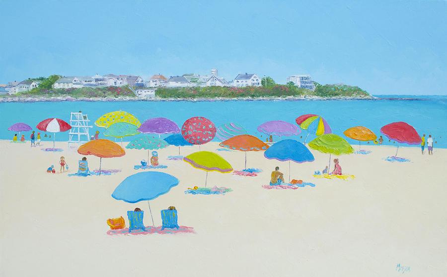 Hampton Beach Painting - Hampton Beach And Boars Head by Jan Matson