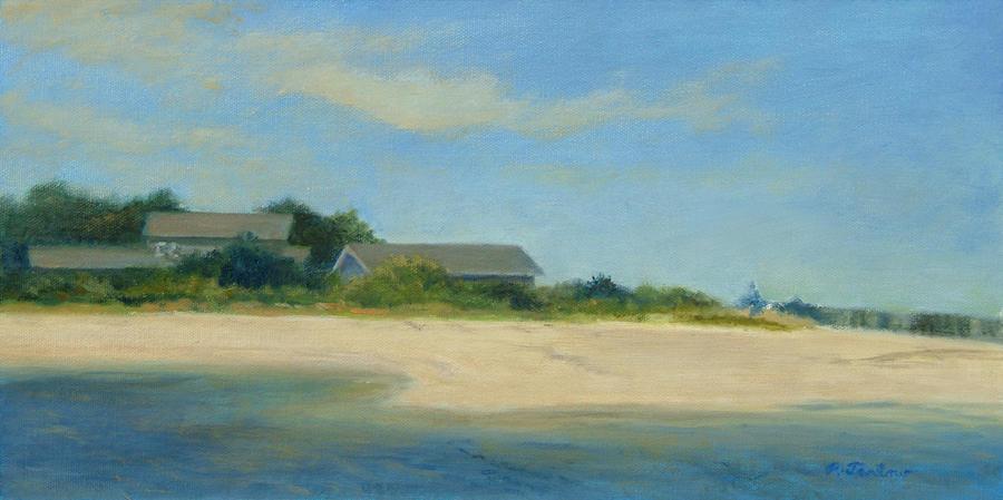 Hamptons Beach House Painting by Phyllis Tarlow