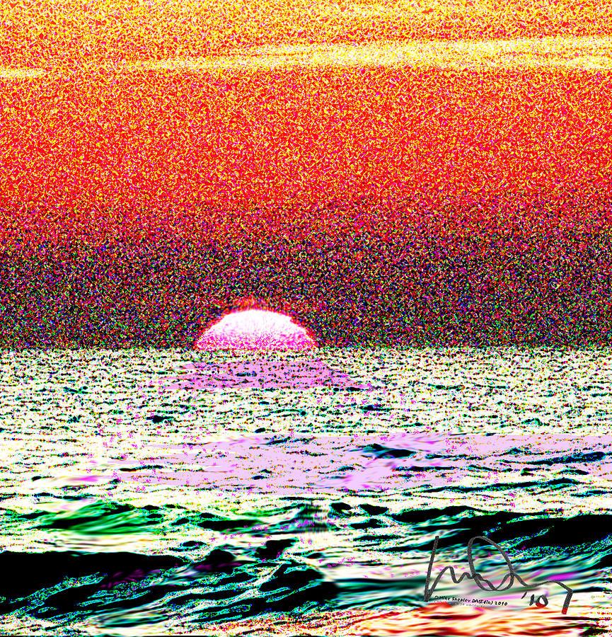 Sunset Photograph - Hamriyah Sunset 2010 by Mike Shepley DA Edin