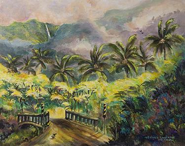 Hana Bridge Print by Bonnie  Layton