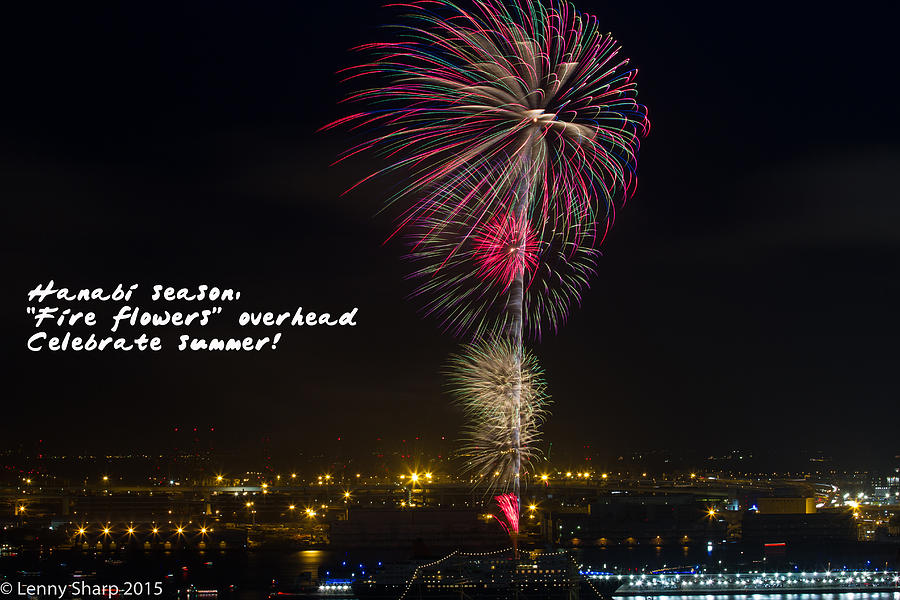 Hanabi Photograph - Hanabi - Haiku by Leonard Sharp