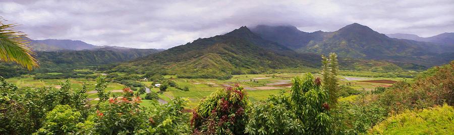 Hanalei Photograph - Hanalei Valley Panorama by Bonnie Follett