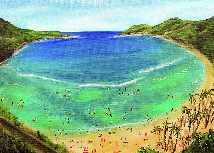 Hanauma Bay Painting - Hanauma Bay Hawaiian #336 by Donald k Hall