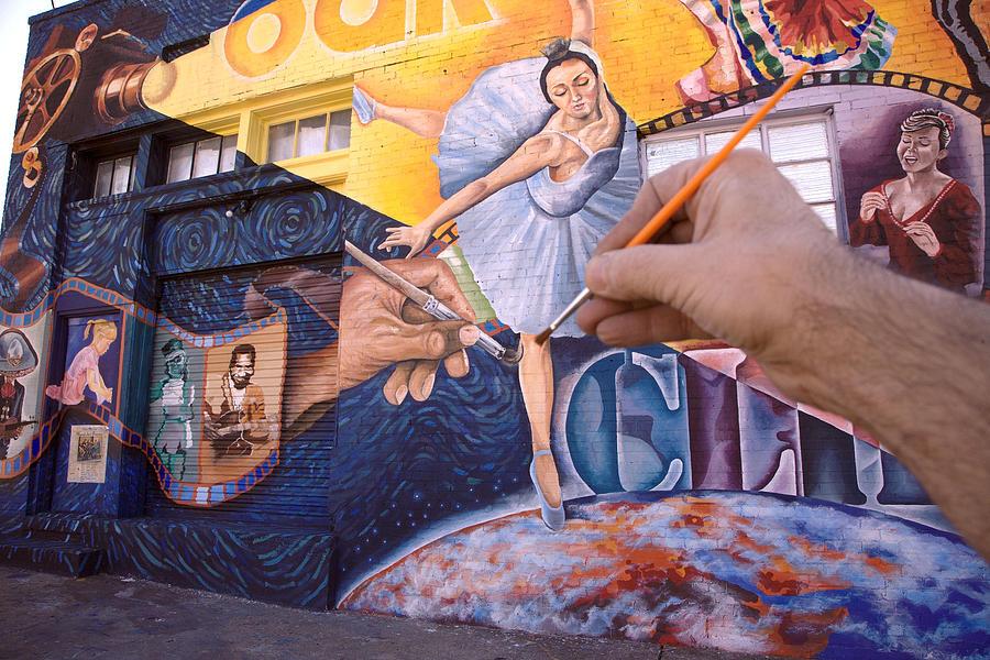 Mural Photograph - Hand And Mural by David Barsotti