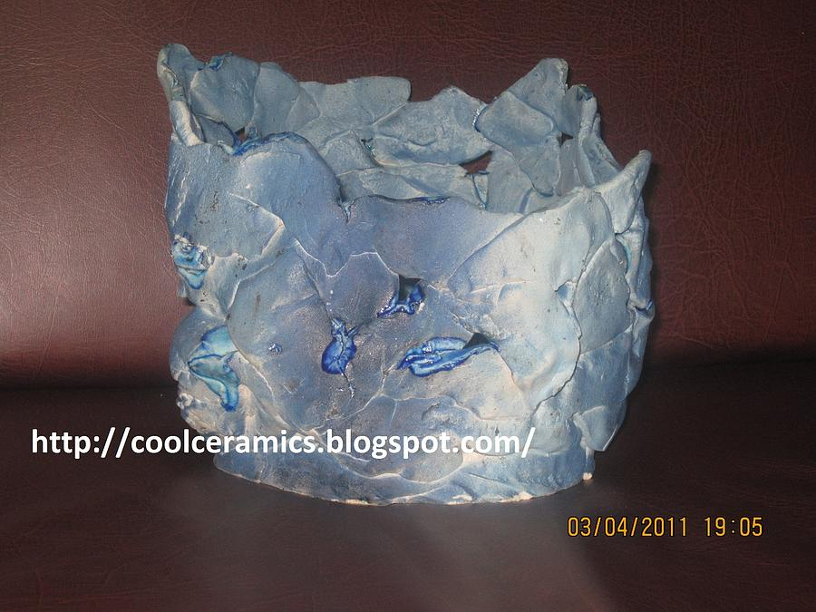 Hand Built Vase Ceramic Art by Umber Khan