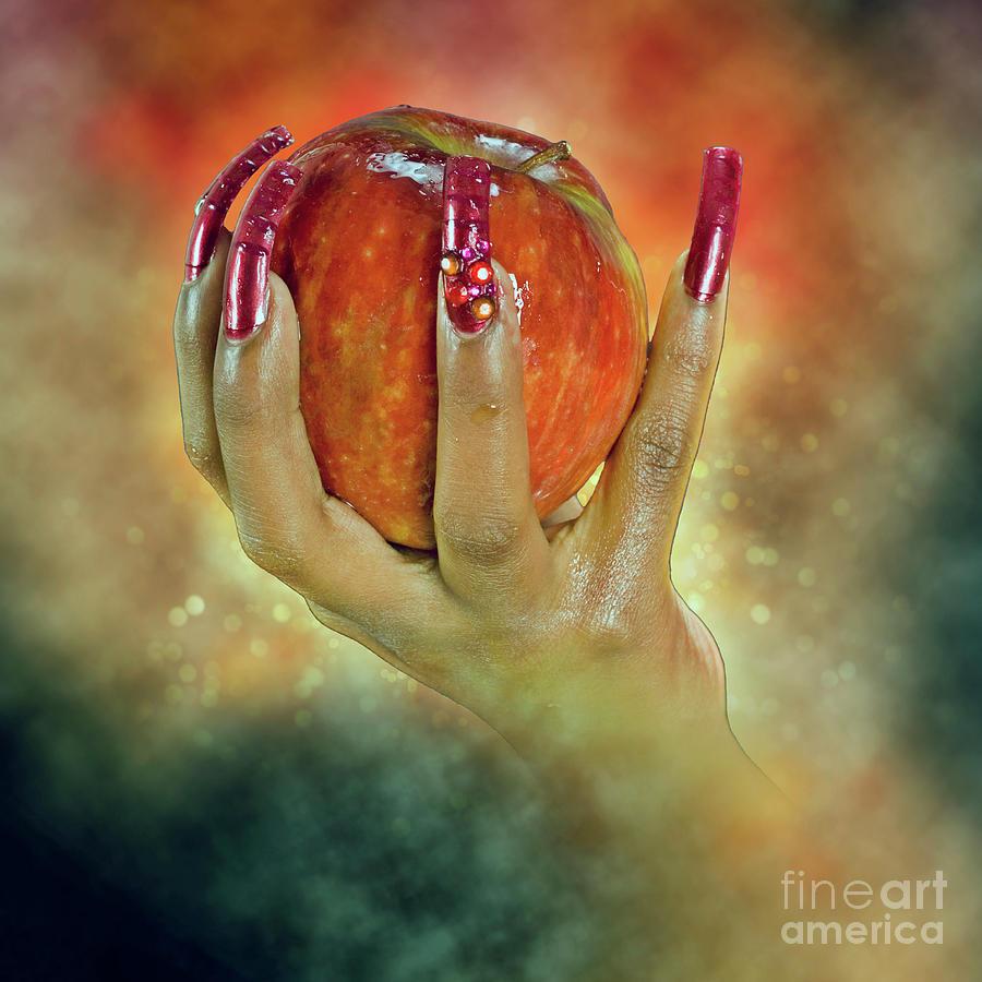 hand holding apple in Honey 4