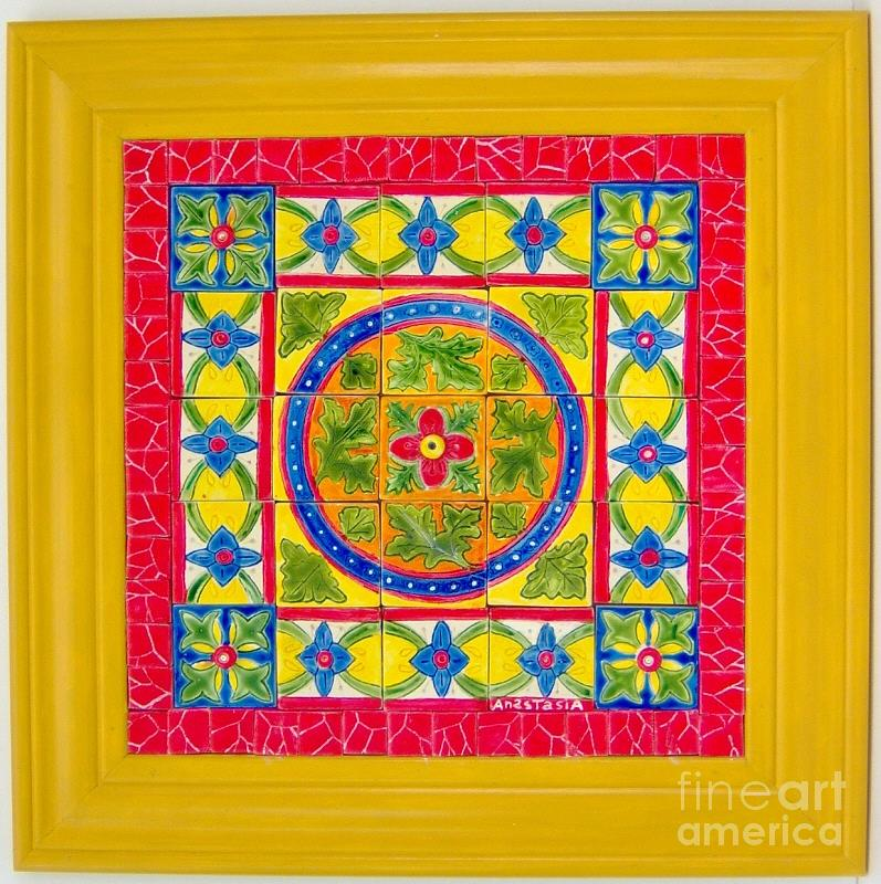 Hand Made Ceramic Tile Art Fr 4 Ceramic Art By Anastasia Verpaelst