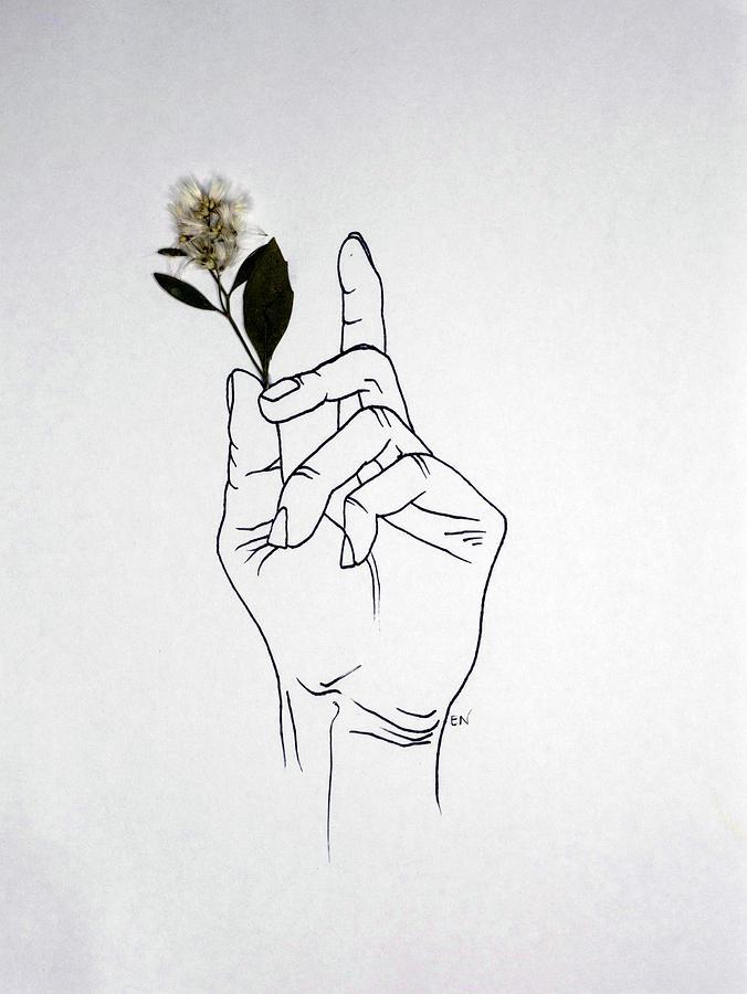 hand model drawing by ellie nadeau